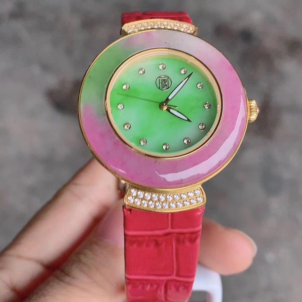 Natural Purple Jadeite Lady's Watch
