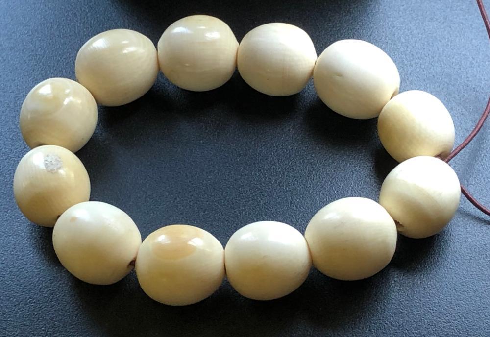 Antique Carved Bead Bracelet