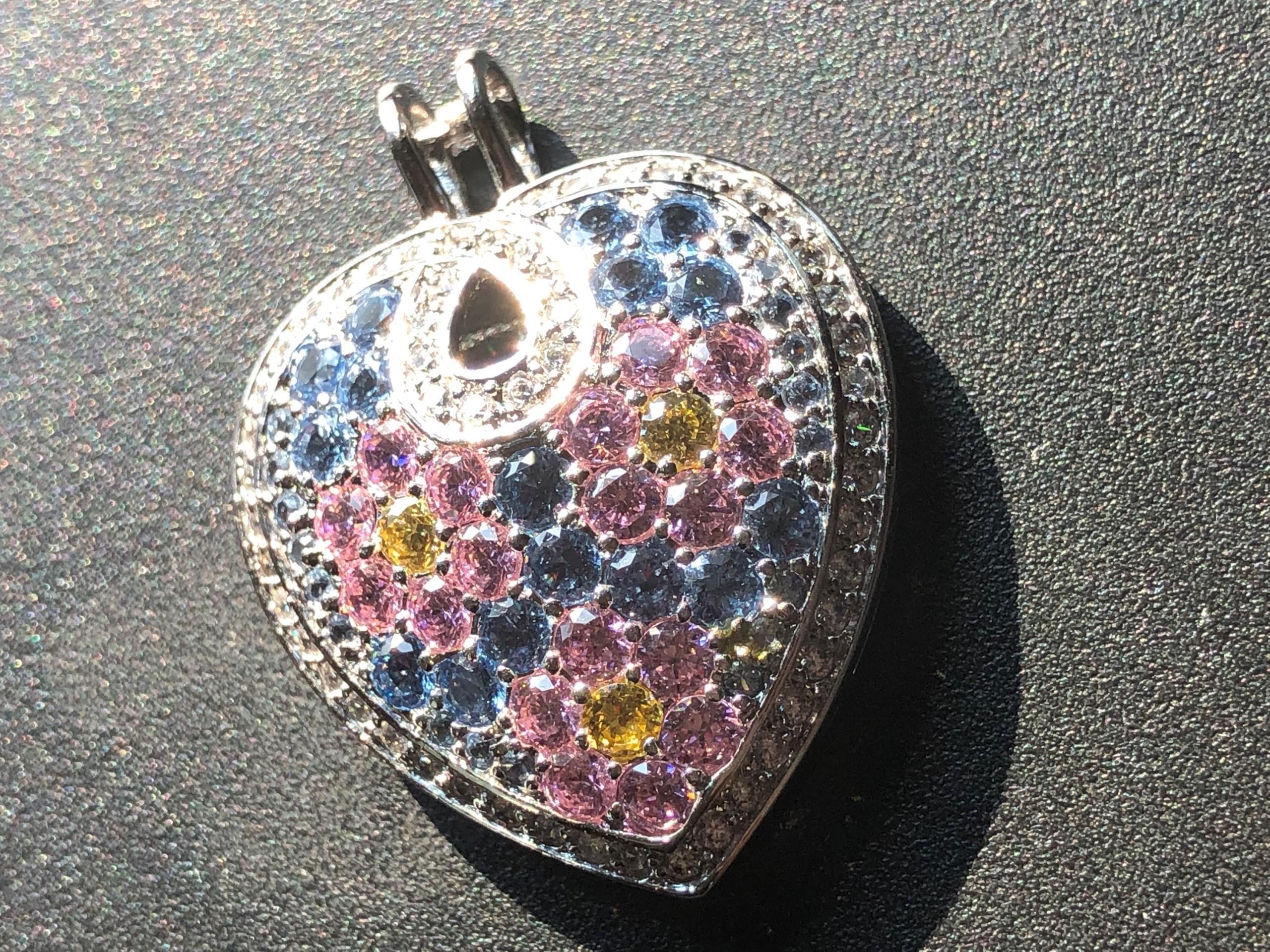 """Vintage Silver Heart Shape Pendant, Size: 1.5"""""""