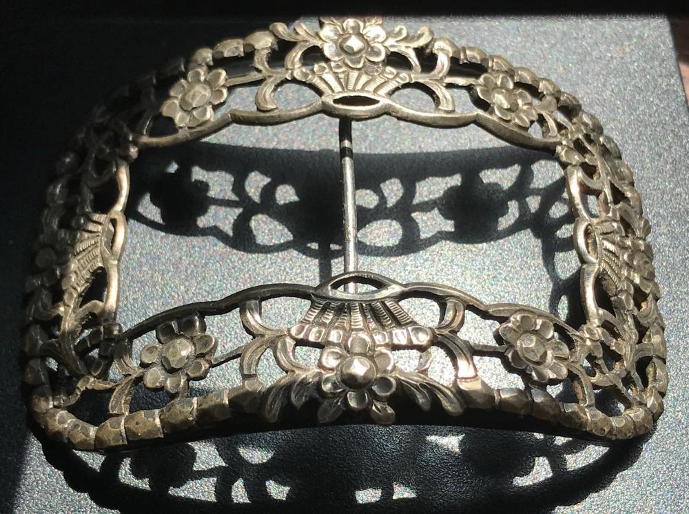 Antique Heavy Silver Belt Buckle