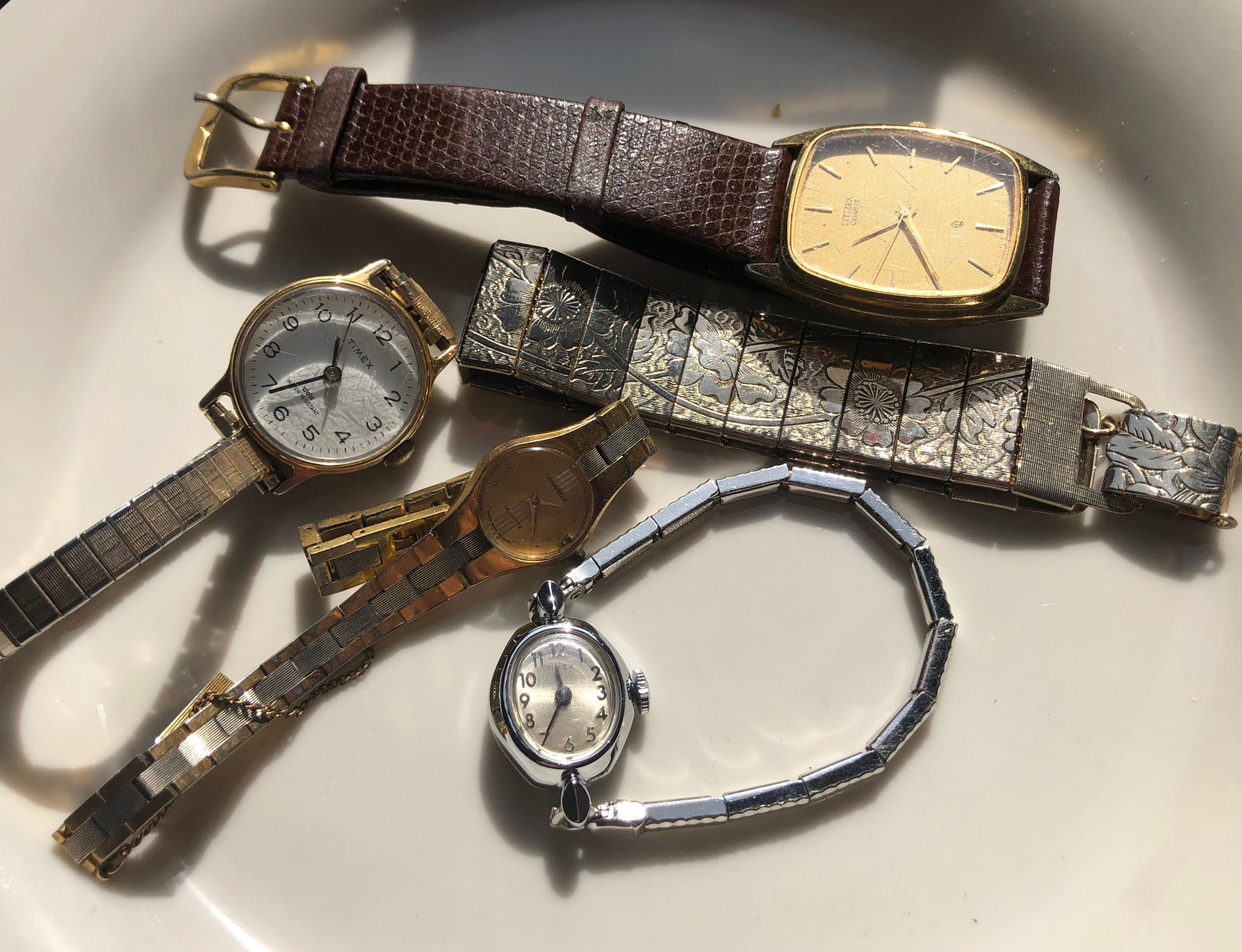 Group of four watches