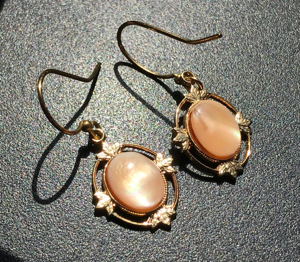 Pair of Gold Color Earrings