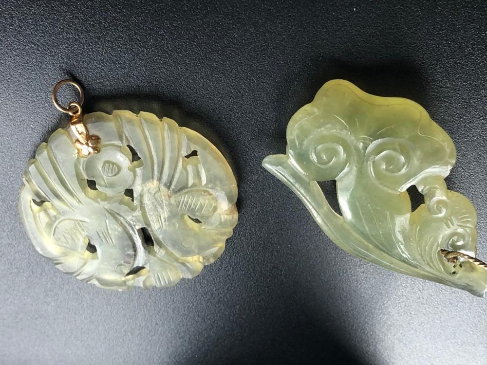 Two Vintage Jade Pendants
