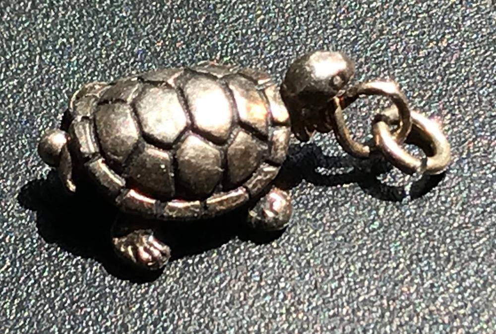 Antique Silver Turtle Pendant