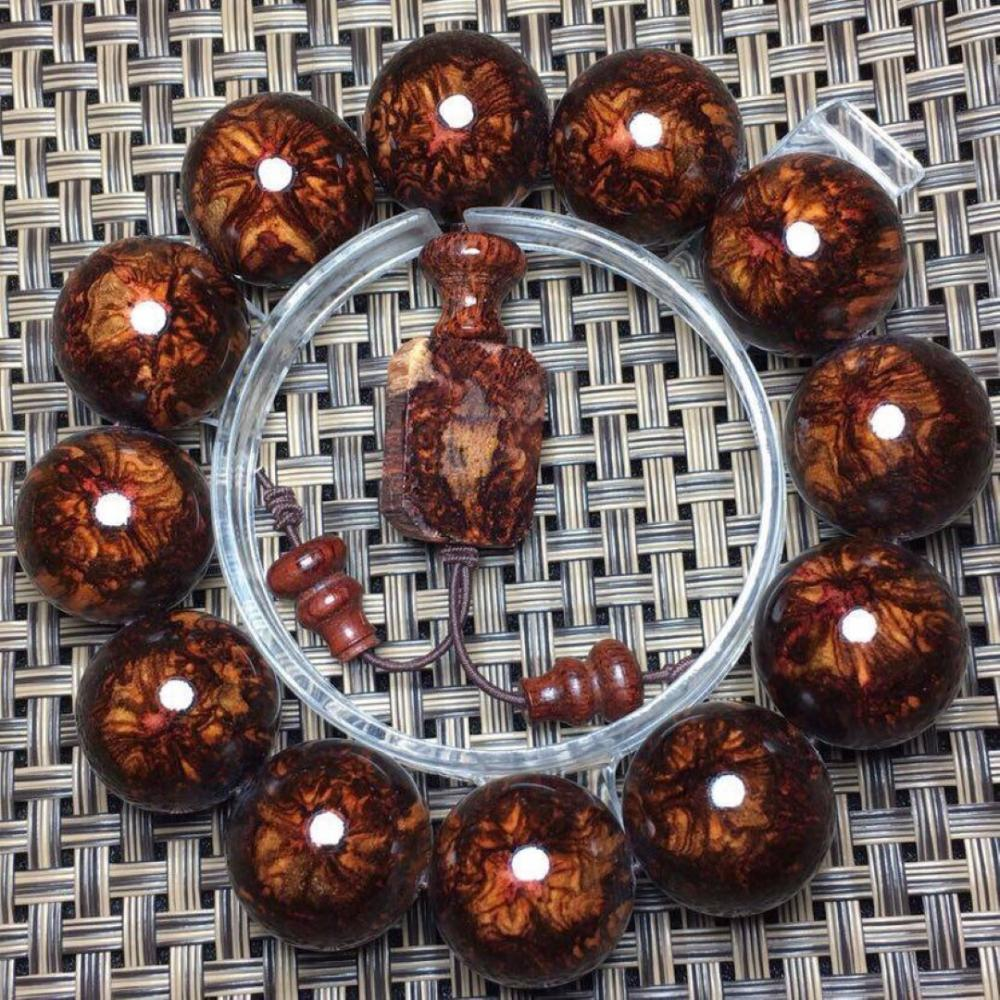 Antique Huang Hua Li Bracelet, Size of each bead: 20mm