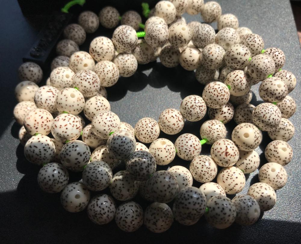 Vintage Chinese Moon and Star Buddha Prayer Beads