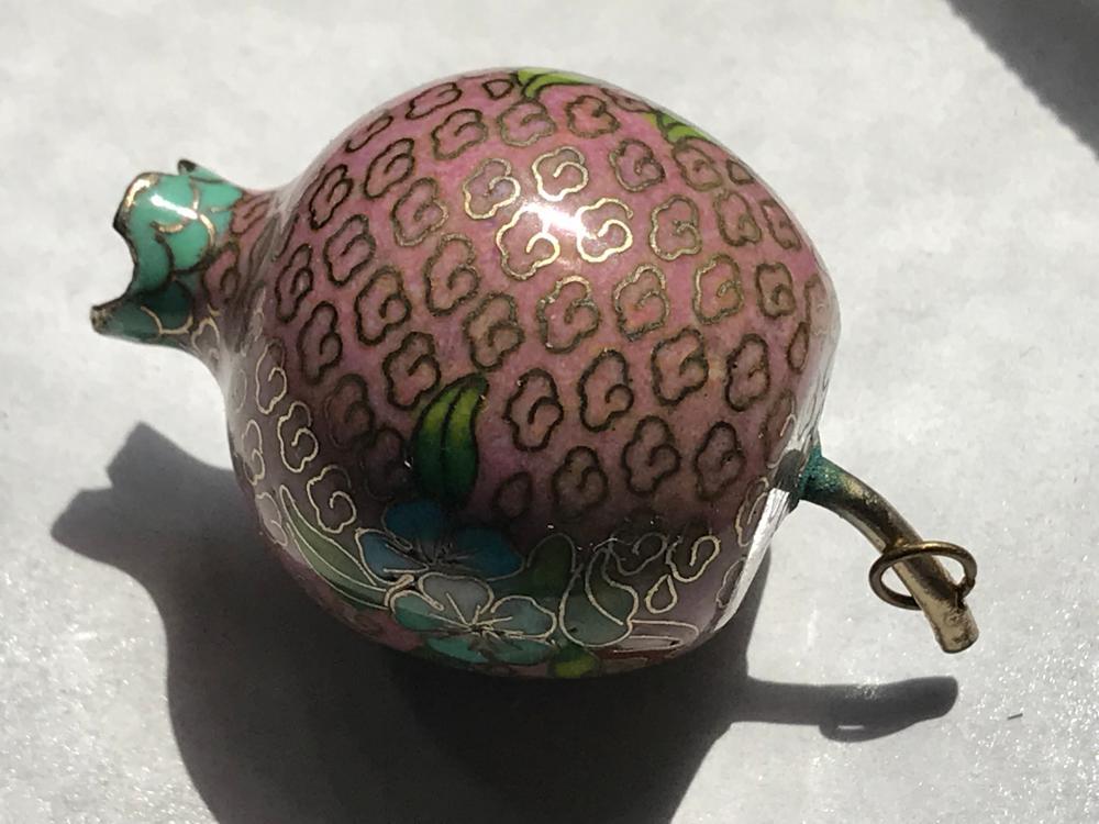 Antique Chinese Cloisonne Pomegranate Pendant