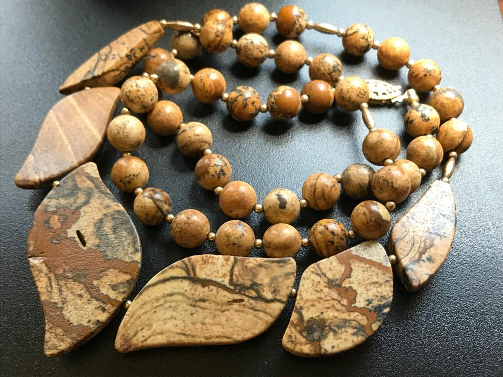 Vintage Stone Beads Necklace