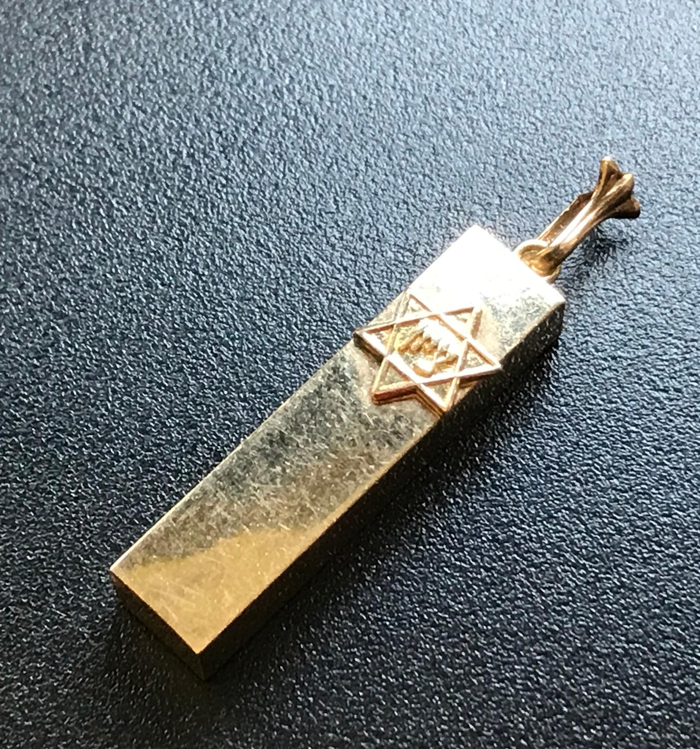 Antique 14K Gold Pendant Marked 14K