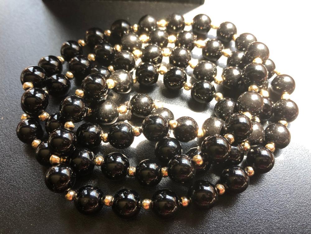 Vintage 14K Gold Beads Necklace
