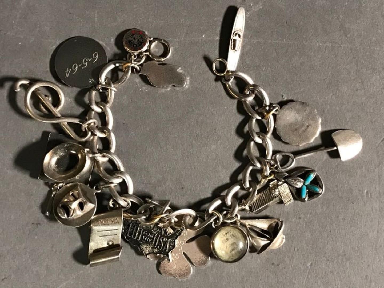 Vintage Sterling Bracelet With Charms