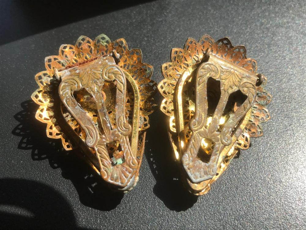 Pair of Filigree Shoe Pins