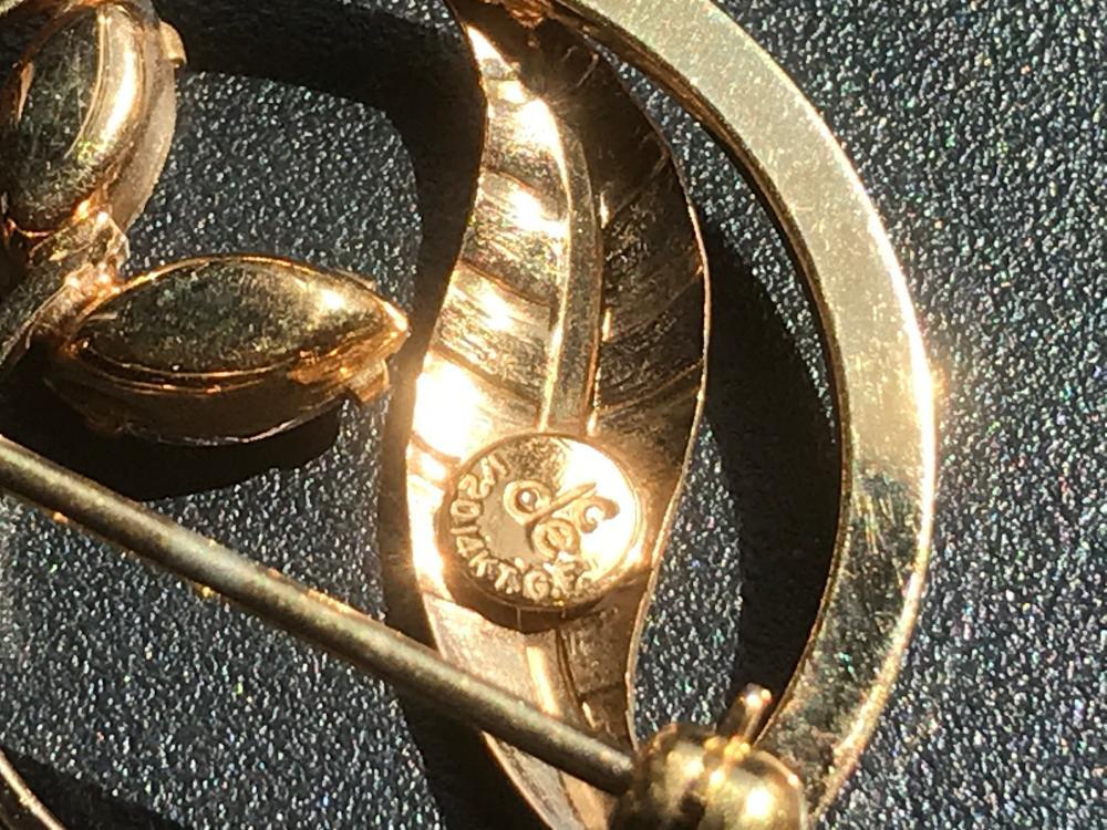 Vintage Gold Filled Brooch Pin