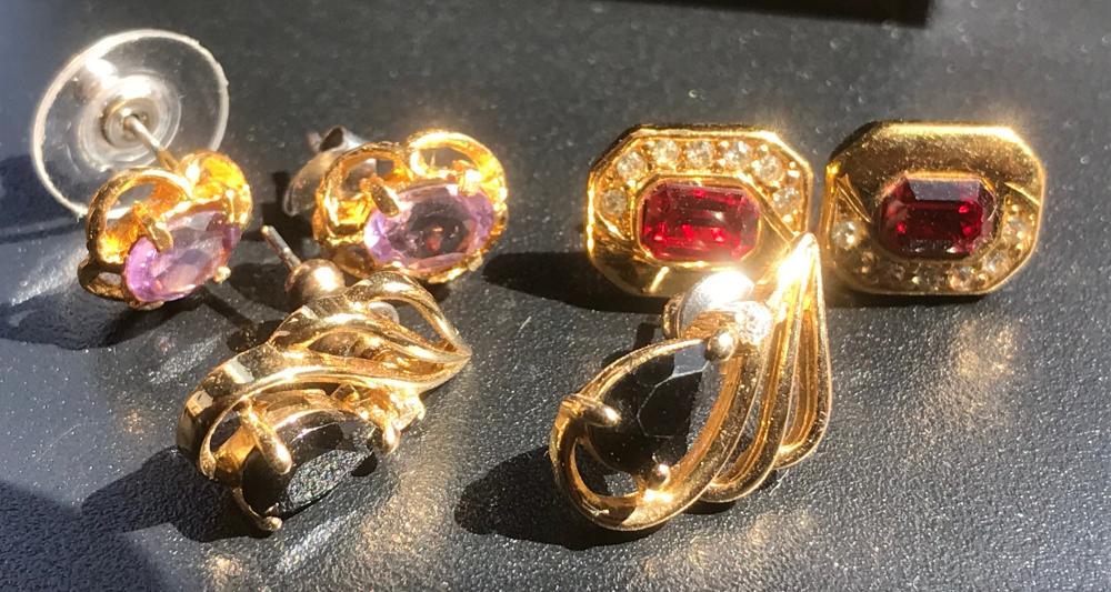 Three Pairs of Earrings