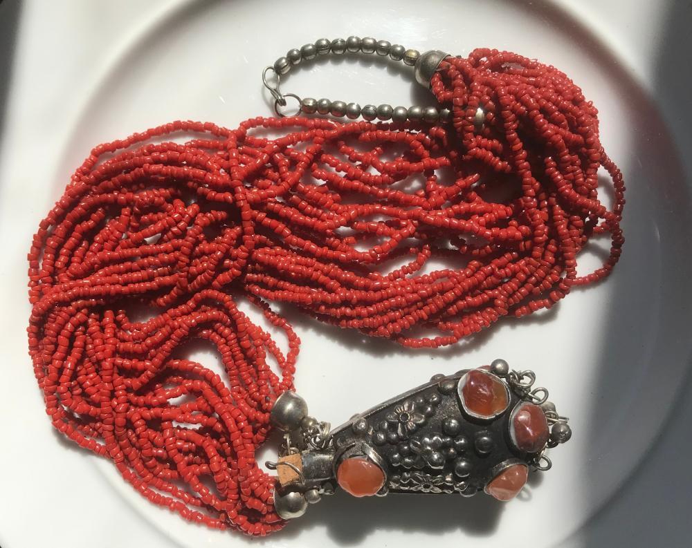 Vintage Red Coral Necklace