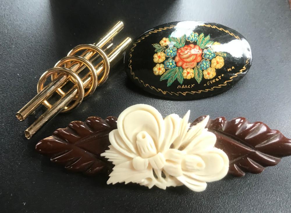 Three Brooch Pins