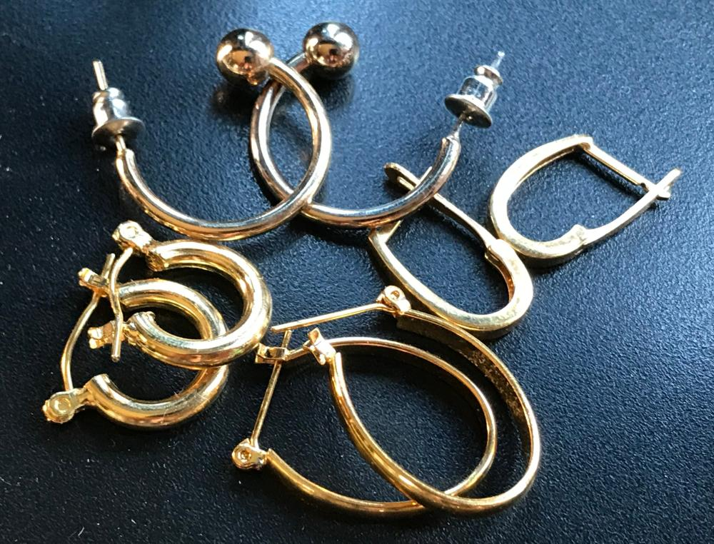 Four Pairs of Gold Filled Earrings