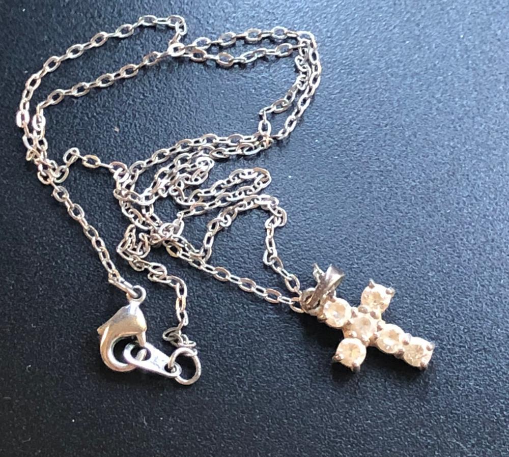 Vintage Silver Cross Necklace
