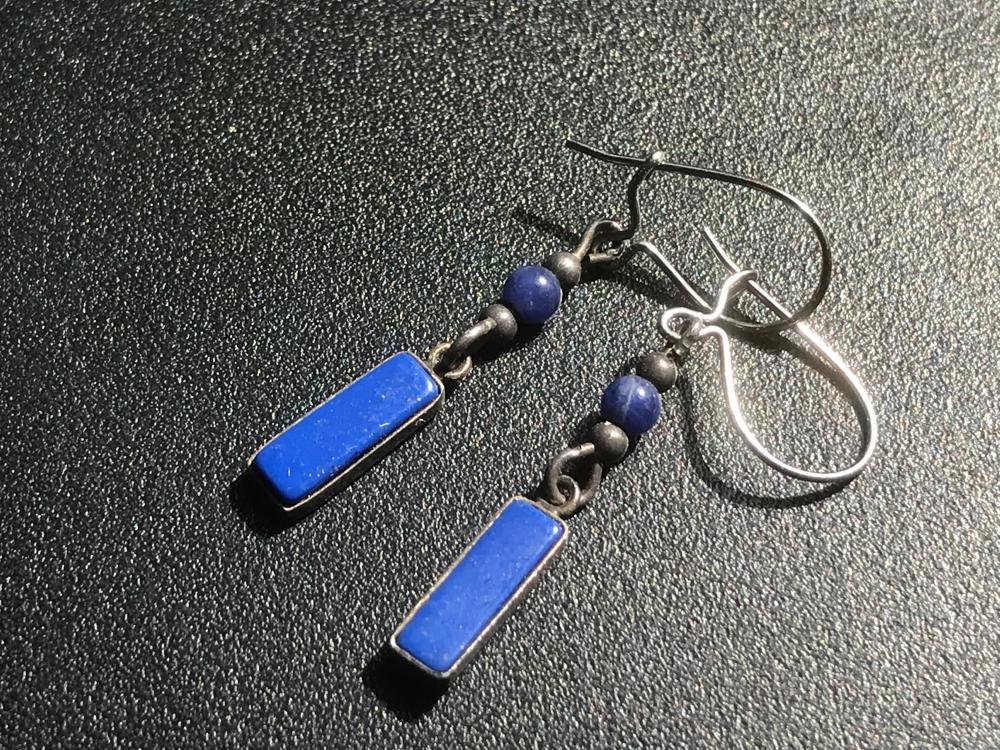 Pair of Lapis Earrings