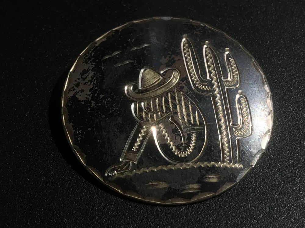 Vintage Silver Brooch Pin
