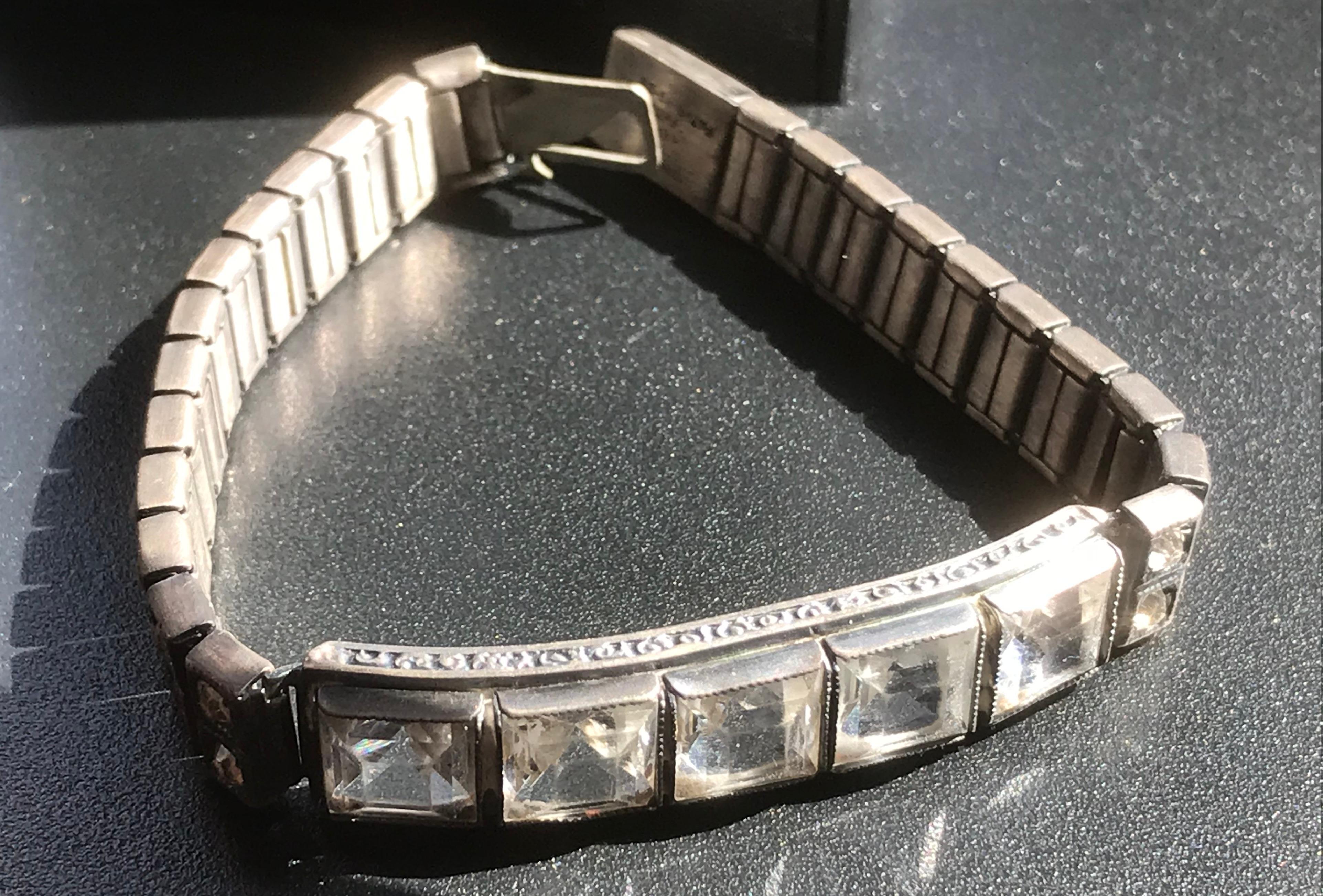 Vintage Silver Bracelet Marked Sterling