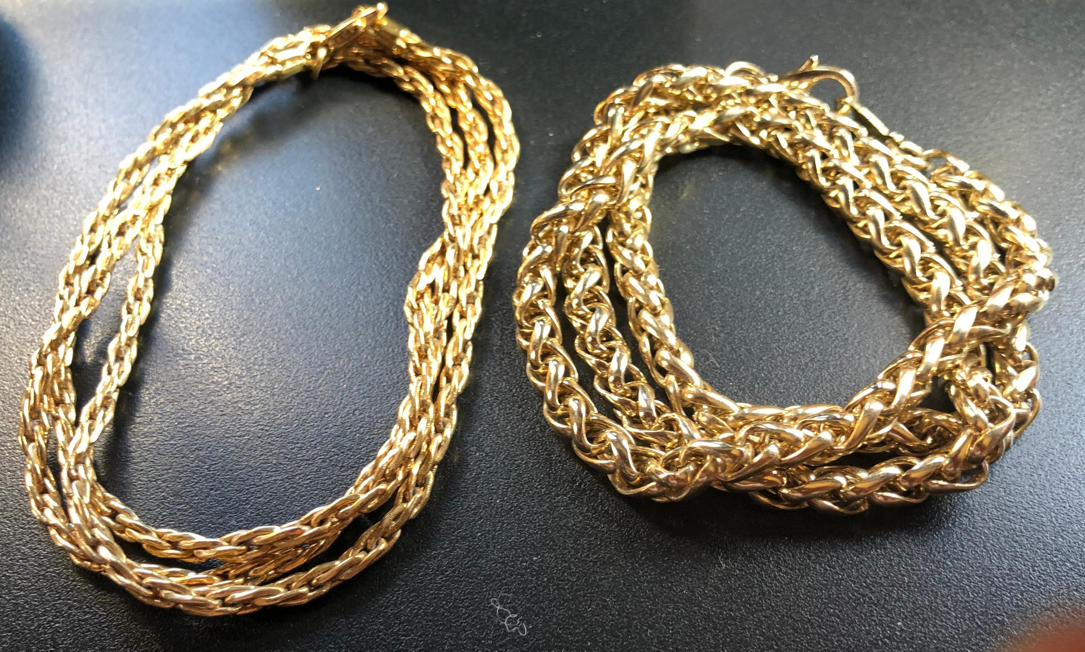 Two Gold Filled Necklaces