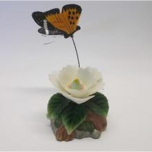 Porcelain Flower and Butterfly ~  this stands about 7 inches tall with incredible detail