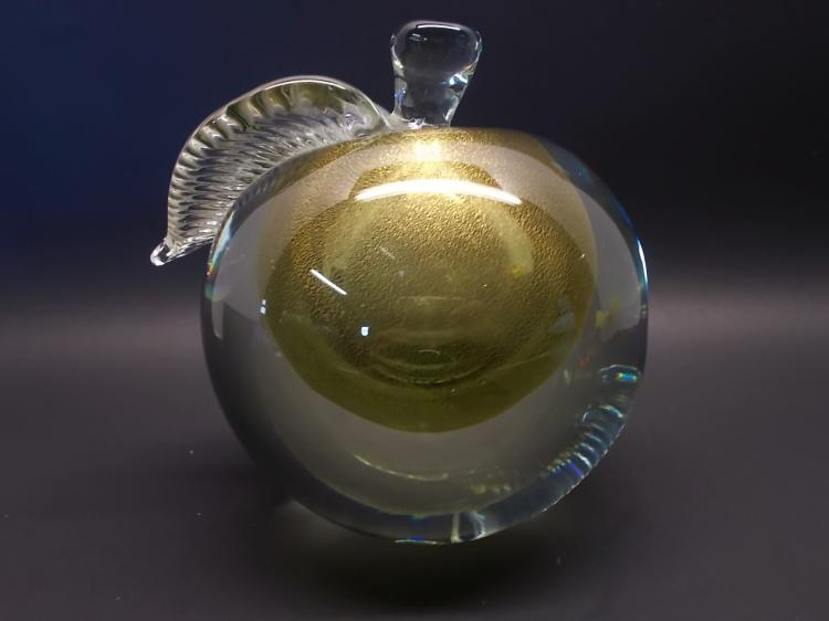 Huge Golden Apple Paperweight