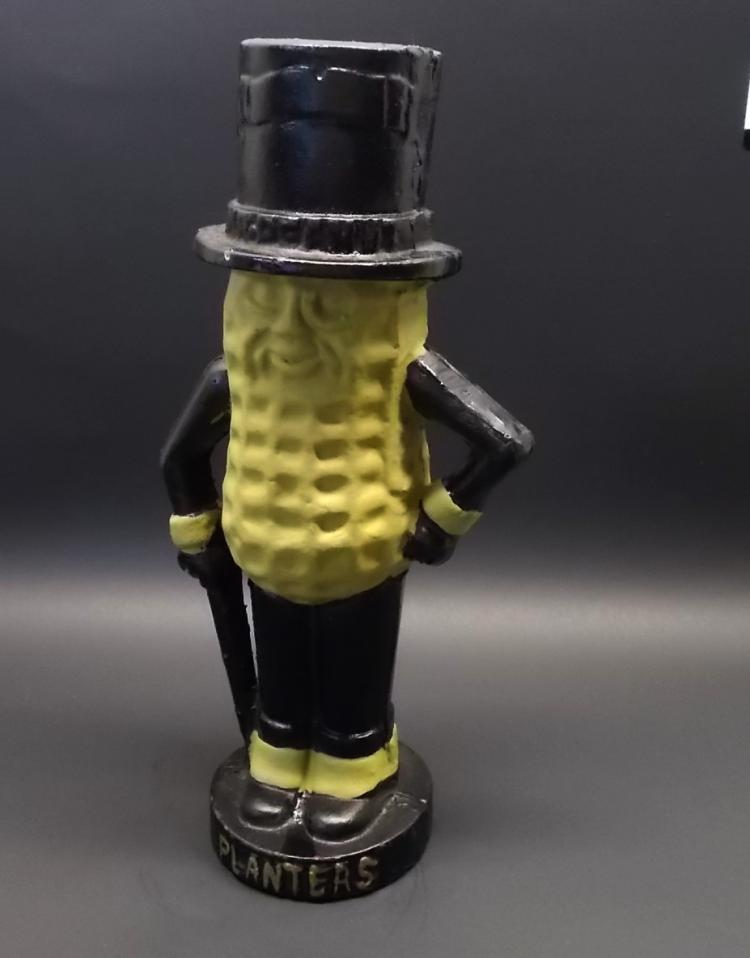 Mr Peanut Cast Iron Bank