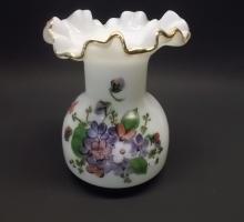 Pretty Violets in the Snow Vase
