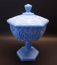 Patterned Imperial Glass Covered Candy