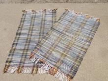 Pair of 3 X 2.5 Rag Rugs