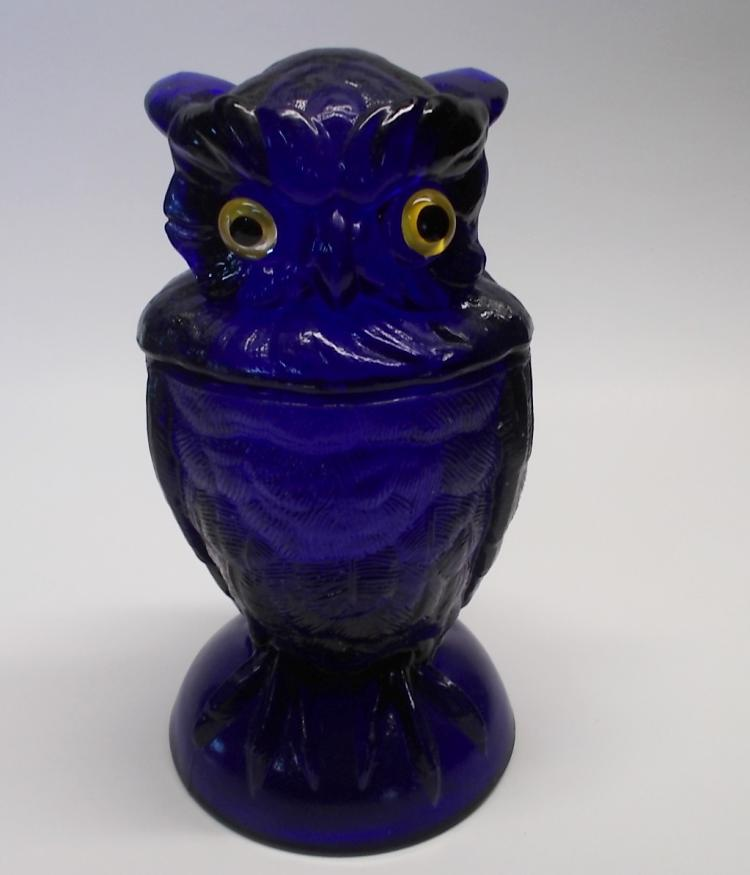 Cobalt Imperial Glass Owl