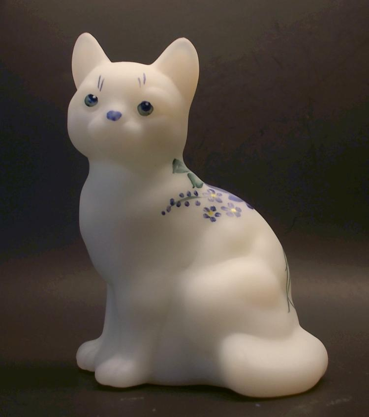 Fenton ~ M. Young Hand Painted Cat