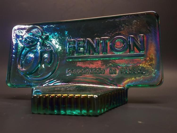 Fenton Teal Iridized Logo