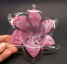 Awesome Art Glass Flower Bowl