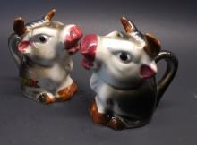 Mid Century Bull Salt and Peppers