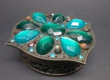 Metal Embellished Trinket box