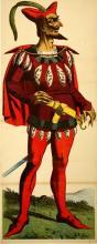 ORIGINAL ANTIQUE WISSEMBOURG POSTER RED DEVIL 45  1880