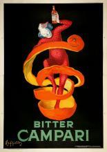 ORIGINAL VINTAGE BITTER CAMPARI POSTER BY LEONETTO CAPPIELLO - OVERSIZE 1921