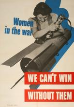 ORIGINAL VINTAGE WWII POSTER WOMEN IN THE WAR - ROSIE THE RIVETER 1942
