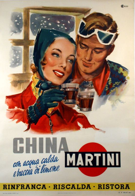 MARTINI CHINA LIXY ORIGINAL VINTAGE CAMPARI POSTER