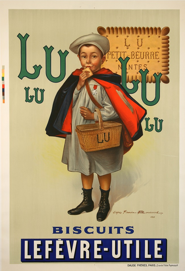 LULU BISCUIT ORIGINAL VINTAGE POSTER BY BOUISSET 1938