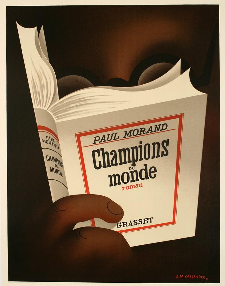 CHAMPIONS DU MONDE RESTRIKE POSTER BY CASSANDRE