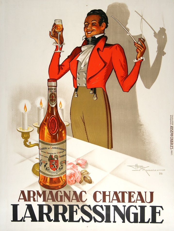 ARMAGNAC L'ARRESSINGLE ORIGINAL VINTAGE LIQUOR POSTER BY HENRI LEMONNIER