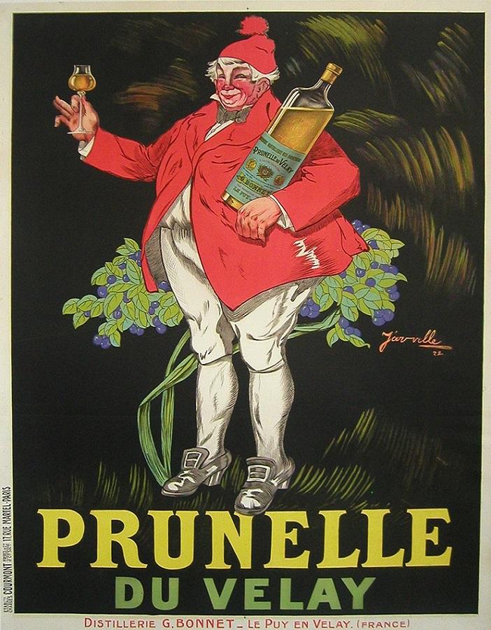PRUNELLE MAN ORIGINAL VINTAGE POSTER BY JARVILLE
