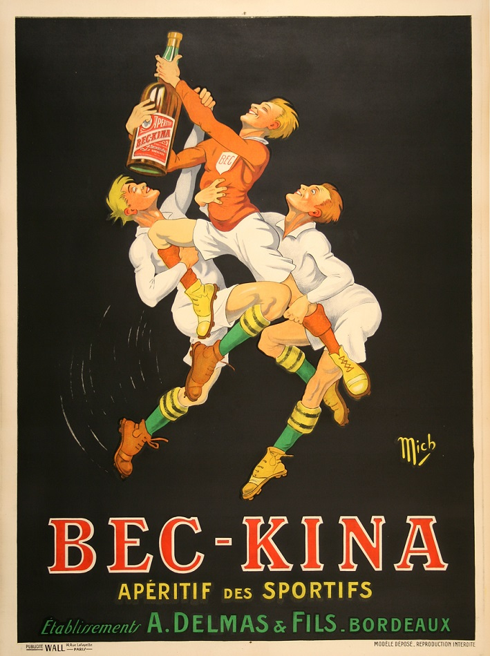 BEC KINA - ORIGINAL VINTAGE POSTER BY MICH CIRCA 1925