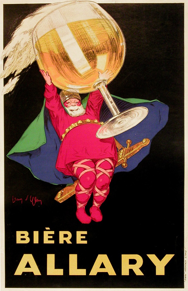 BIERE ALLARY - ORIGINAL VINTAGE CARTON BY JEAN D'YLEN