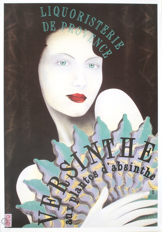 VERSINTHE - ORIGINAL POSTER DESIGNED BY PHILIPPE SOMMER 2000 AND INDIVIDUALLY SIGNED