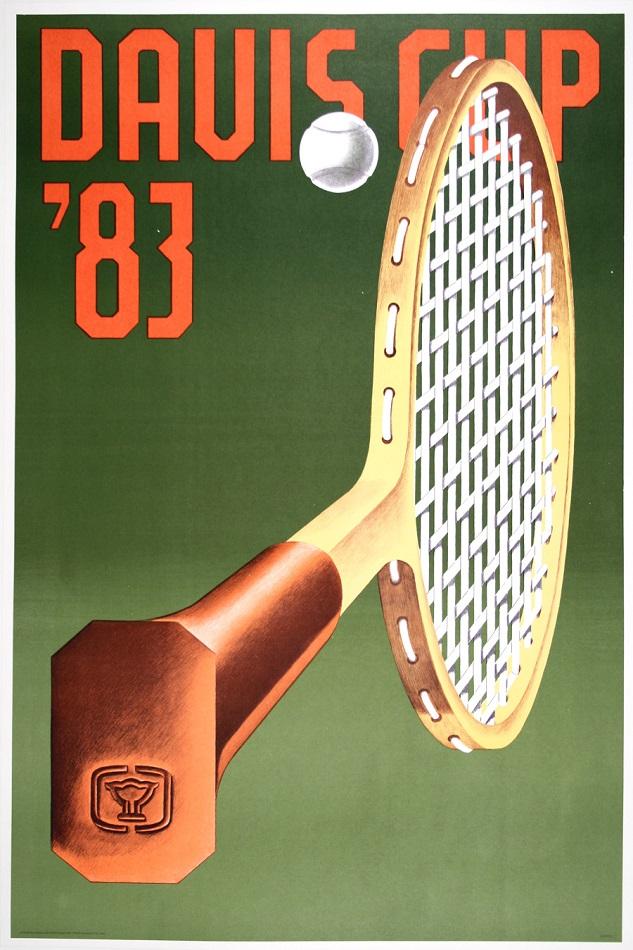 TENNIS DAVIS CUP 1983 ORIGINAL VINTAGE POSTER